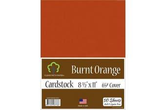 (22cm  x 28cm  - 50 Sheets) - Burnt Orange Cardstock - 22cm x 28cm - 29kg Cover - 50 Sheets
