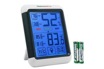 ThermoPro TP55 Digital Hygrometer Thermometer with Jumbo Touchscreen and Backlight, Indoor Temperature Humidity Monitor with Humidity Gauge Temperature Metre