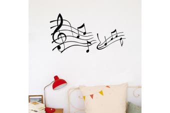 (DIY, Romantic Staves) - BIBITIME Music Classroom Staves Vinyl Wall Decals Musical Notes Art Stickers for Nursery Bedroom PVC Decorations Kids Room Decor,DIY 110cm x 60cm