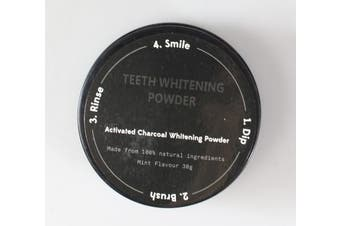 Natural Teeth Whitening Charcoal Powder! AMA(TM) Teeth Whitening Powder Natural Organic Activated Charcoal Bamboo Toothpaste (Black)