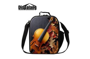 (Violin6) - Dispalang Violin Print Lunch Bags for Boys Girls Art Insulated Lunch Box Bags Small Kids Lunch Container
