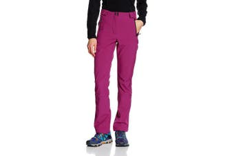 (42, Berry) - CMP Women's Soft Shell Trousers