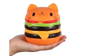 (4.5inch) - Anboor Squishies Cat Hamburger Bread Slow Rising Kawaii Squishies Kids Toy for Collection Gift
