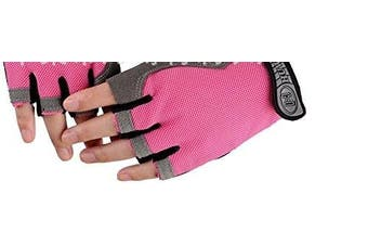 (Pink) - Summer Thin Cycle Fingerless Gloves Riding Half Finger Gloves Anti-skidding Men Woman Breathable Gym Gloves Anti-Vibration Gloves for Motor Driving,Cycling,Hiking