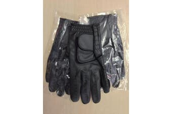 (Small x 3, Left) - Black JL Golf all weather synthetic golf glove Mens - Choose size & quantity
