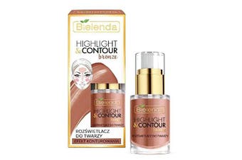 Bielenda Highlight and Contour Bronze Highlight Face Cream Contouring Effect