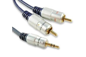 (1m (1 Metre)) - C4A® 1m, 2m, 3m 5m, 10m, 15m, 20m Quality 3.5mm Jack to Phono Cable - Audio Cable / Fully Screened (1 Metre)