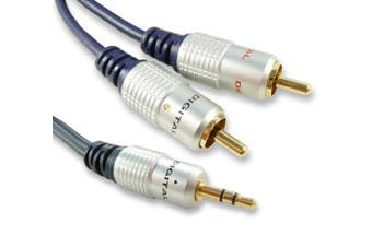 (20m (20 Metre)) - C4A® 1m, 2m, 3m 5m, 10m, 15m, 20m Quality 3.5mm Jack to Phono Cable - Audio Cable / Fully Screened (20 Metre)