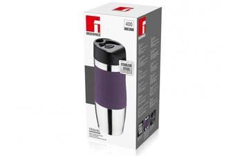 (400 ml, Purple/Silver) - Bergner Travel Vacuum Travel Mug, Purple/Silver, 400 ml