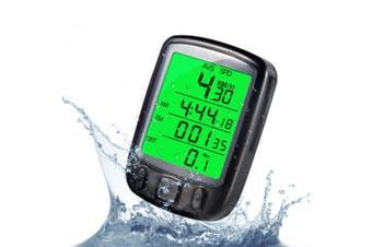 GuDoQi® Waterproof LCD display cycling computer digital odometer speedometer green backlight