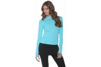 (Medium, Light Turquoise) - BloqUV Women's 24/7 Athletic Top
