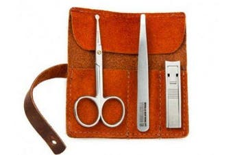 Men's Essential Grooming Kit w Leather Tool Roll Guaranteed for Life by Gorillakilla
