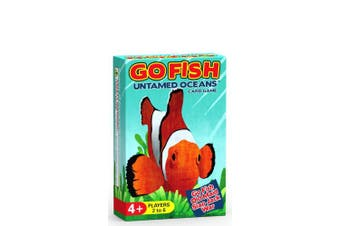 GO FISH Untamed Oceans ~ a 4-in-1 Classic Card Game for Kids ( GO FISH, OLD MAID, WAR and SLAP JACK ) ~ Play 4 Classic Kids Games with ONE Single Deck Featuring Ocean Animals