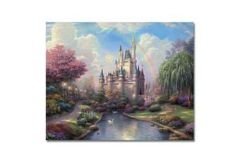 (Frameless, Rainbow Castle) - Rihe Diy Oil Painting, Paint by Number kit-Rainbow Castle 4110cm (Frameless)