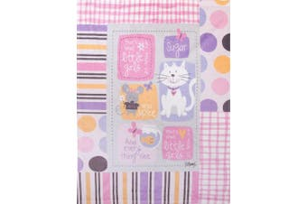 Manual Sugar and Spice and Everything Nice Fleece Printed Baby Nursery Bed Blanket SASSEN 80cm x 100cm