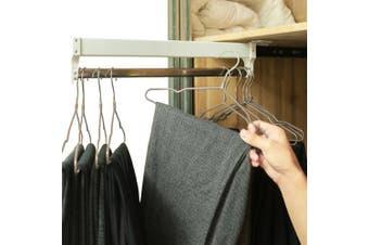 (35cm ) - Extendable Closet Valet Rod Retractable Pants Rack AINGER(35cm )
