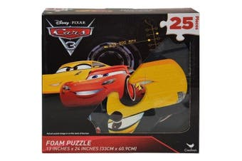 Disney Cars 3 - 25piece Floor Foam Puzzle Mat