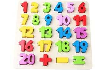 (Number) - Babe Rock Numbers Toddlers Wooden Puzzles for . Old Toy 23 Pieces