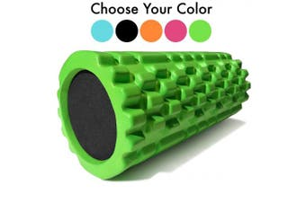 (Fluorescent Lime) - 321 STRONG Foam Roller - Medium Density Deep Tissue Massager for Muscle Massage and Myofascial Trigger Point Release, with 4K eBook
