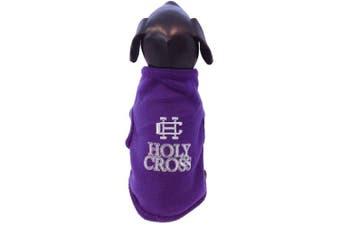 (Medium) - NCAA Holy Cross Crusaders Sleeveless Polar Fleece Dog Sweatshirt
