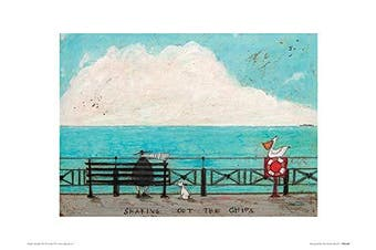 (Unlaminated) - Art Group The Sharing Out The Chips Sam Toft Art Print, Paper, Multi-Colour, 30 x 40 x 1.3 cm