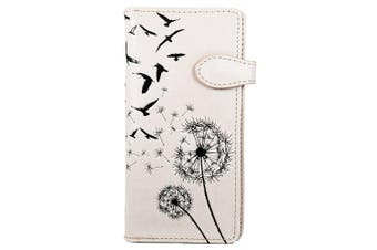 (Dandelion light pink) - Shagwear Young Ladies Wallet, Large Purse: Various colours and designs: (Dandelion light pink)