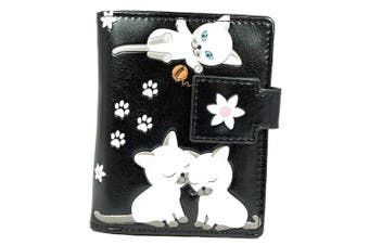 (Playful Kittens black) - Shagwear Young Ladies Wallet, Small Purse: Various colours and designs: (Playful Kittens black)