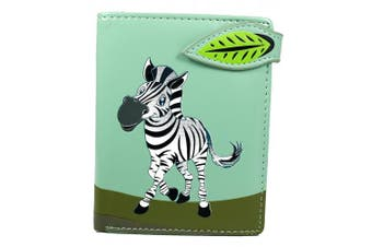 (Zebra teal) - Shagwear Young Ladies Wallet, Small Purse: Various colours and designs: (Zebra teal)