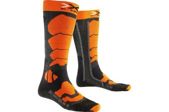 (Size 35 - 38, Anthracite/Orange) - X-Socks Men's Socks Control 2.0, Men, X-SOCKS SKI CONTROL 2.0