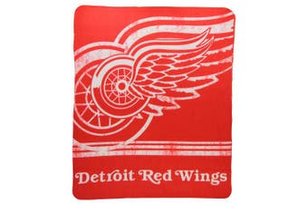 (Detroit Redwings, 130cm  x 150cm , Detroit Redwings) - The Northwest Company NHL Mens Printed Fleece Throw