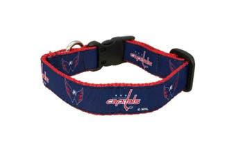 NHL Washington Capitals Dog Collar, Medium, Red