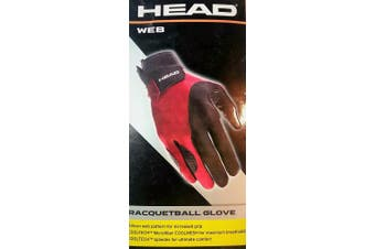 (Medium, Right) - Head Leather Racquetball Glove - Web Extra Grip Breathable Glove for Right & Left Hand