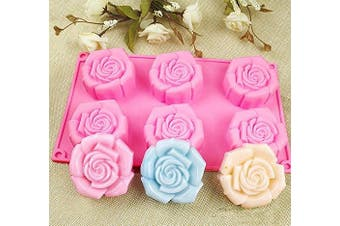 Lanyani ROSE Silicone Soap Mould 6 Cavity Bar Soap Mould Cupcake Backing mould Muffin pan Handmade Soap Silicone Moulds Chocolate Mould