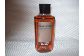 Bath and Body Works New Men's Collection Teakwood 2 in 1 Hair and Body Wash 300ml