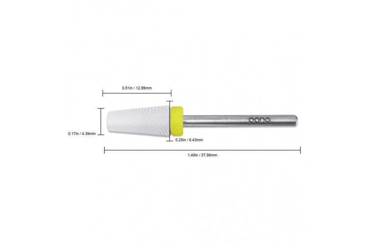 Pana Professional USA Ceramic White TAPERED Barrel Bit Nail Drill (Grit: EXTRA FINE - XF) 0.2cm Shank Size