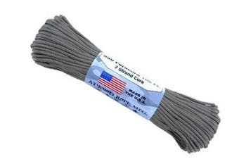 (0.3cm  x 30m, Charcoal Grey) - A.C. Kerman - LE Atwood Rope 250kg Type III 7 Strand Core Paracord