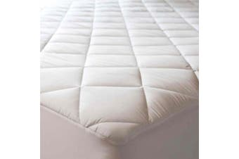 (24 x 38 (Mini Crib)) - Abstract Quilted Mattress Pad White Fitted Waterproof Cotton Protector Cover (24 x 38 (Mini Crib)) (24 x 38 (Mini Crib))
