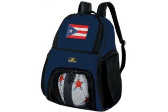 Puerto Rico Soccer Backpack or Puerto Rican Flag Volleyball Ball Backpack