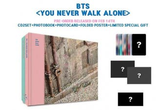 BTS BANGTAN BOYS - You Never Walk Alone [LEFT + RIGHT ver. SET] CD+Photobook+Photocard+2 Official Folded Poster+1 Extra Photocard set