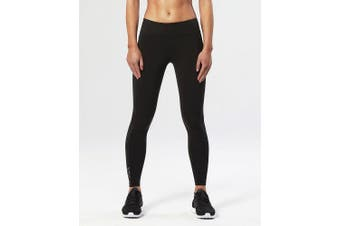 (Small, Black/Silver) - 2XU Women's Fitness Compression Tights