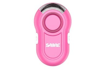 (Pink) - SABRE Personal Alarm with Clip and LED Light –LOUD 120dB Alarm - Hear Up to 600 feet (185m) Away - Great for Runners!