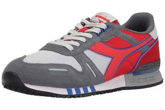 (7 M UK, Grey Alaska/Ferrari Red Italy) - Diadora Titan Ii, Unisex Adults' Low-Top Sneakers