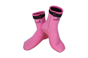 (XS(21.5-22.5cm), Pink) - A Point Wetsuits Premium Neoprene 3mm Neoprene Water Sock