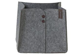 (28  x  33  x  30 cm) - Sealskin Felt Storage Basket Laundry Basket, Fabric, grey, 28 x 33 x 30 cm
