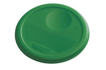 (3.8l., Lid, Green) - Rubbermaid Commercial Lid (Lid Only) for Round Food Storage Container, Fits 3.8l. Containers, Green (1980338)