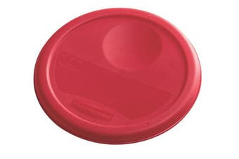 (3.8l., Lid, Red) - Rubbermaid Commercial Lid (Lid Only) for Round Food Storage Container, Fits 3.8l. Containers, Red (1980337)