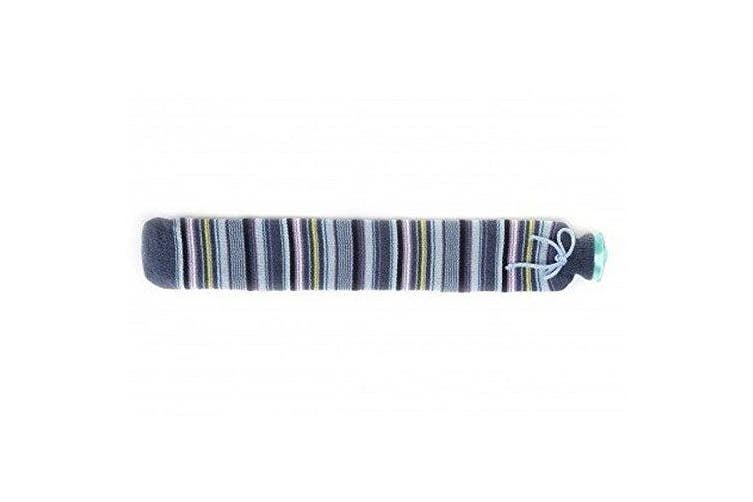 (Hot Water Bottle XL Blue Stripe) - Intelex Extra Long PVC Tubular 2L Hot Water Bottle With Knitted Cover (blue stripe)