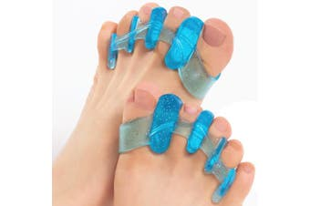 (Narrow) - ToePal: Gel Toe Separator & Toe Stretcher for Yoga, Walking and Dancing. Instant Therapeutic Bunion Relief, Toe Alignment for Women and Men