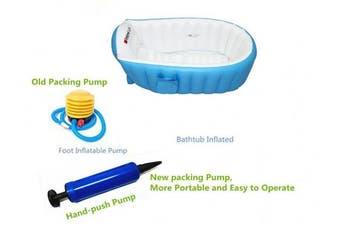(Blue) - Buringer Baby Infant Travel Inflatable Non Slip Bathing Tub Bathtub (BLUE)