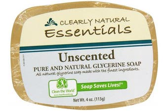 Clearly Natural, Glycerine Soap, Unscented, 120ml
